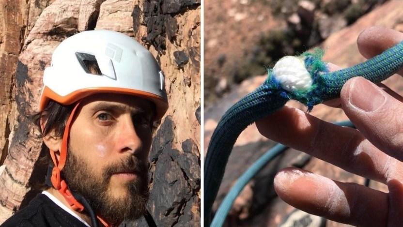 jared leto - Jared Leto estuvo a punto de caer de una montaña mientras escalaba (Fotos) - #Noticias