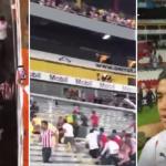 violencia estadio jalisco - VIDEOS muestran enfrentamiento entre aficionados de Chivas y Atlas después de Clásico Tapatío - #Noticias