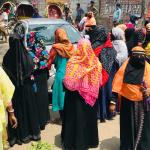 protesta bangladesh - Trabajadoras de la industria textil en Bangladesh protestan por salarios no pagados durante paralización