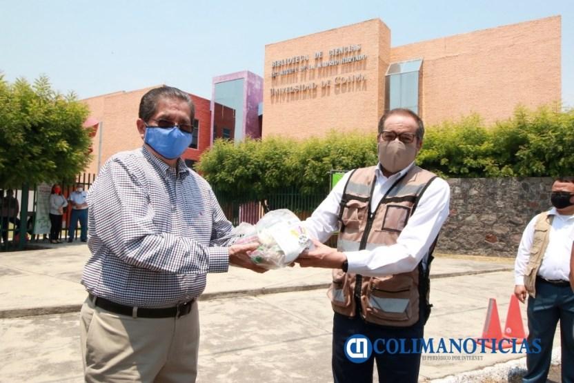 Entregan Universtarios despensas al DIF - Universitarios donan mil despensas para apoyar en contingencia sanitaria