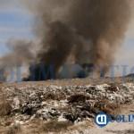 Incendio en el relleno sanitario de Tecomán afecta recolección de basura en Armería - Incendio en el relleno sanitario de Tecomán afecta recolección de basura en Armería