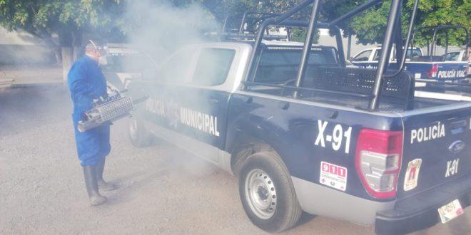 WhatsApp Image 2020 05 17 at 12.42.47 660x330 - Policía Municipal de Colima sanitiza instalaciones y patrullas de manera constante – Archivo Digital Colima