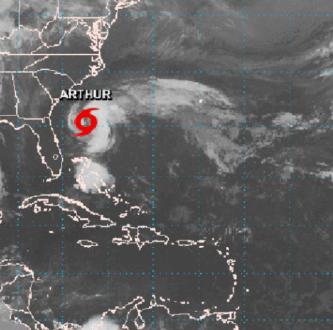 tormenta tropical arthur 660x330 - Se forma la primera tormenta tropical en el Atlántico – Archivo Digital Colima