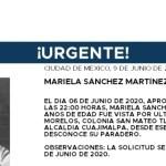 mariela alerta amber - ALERTA AMBER | Mariela, de 15 años, desapareció en Cuajimalpa, CdMx; traía un suéter negro y tenis rosas