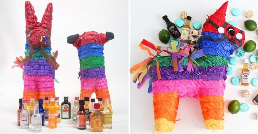 Fondo Piñata Alcohol - Piñata para mayores de edad será la revelación de tu cumpleaños. Rellena de botellitas de alcohol