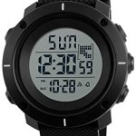 Redlemon Reloj Digital Deportivo para Hombre Contra Agua Pantalla con Iluminación Cronómetro Alarma y Fecha, Modelo 1213. Negro