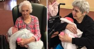 abuelos alzheimer peluches - Organización regala muñecas y peluches a abuelos con Alzheimer. Los ayuda a lidiar con la enfermedad