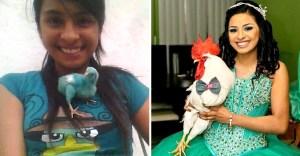 amistad pollo gallo crecimiento chica 5 - Elle a sauvé un poussin quand elle était petite et ils ont grandi ensemble. Ils sont devenus de grands amis