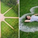 parque corazones distancia social - Parque inglés se llena de corazones para que sus visitantes respeten el distanciamiento social