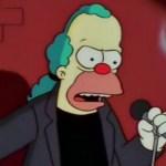 """Krusty El payaso - """"Tenía un chiste... pero"""", el meme texto del momento (Tuits)"""