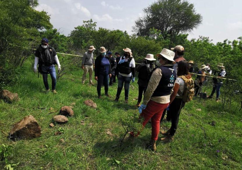 desaparecidos guanajuato 2 - Por primera vez, colectivos de Guanajuato exploran un sitio de hallazgos de desaparecidos