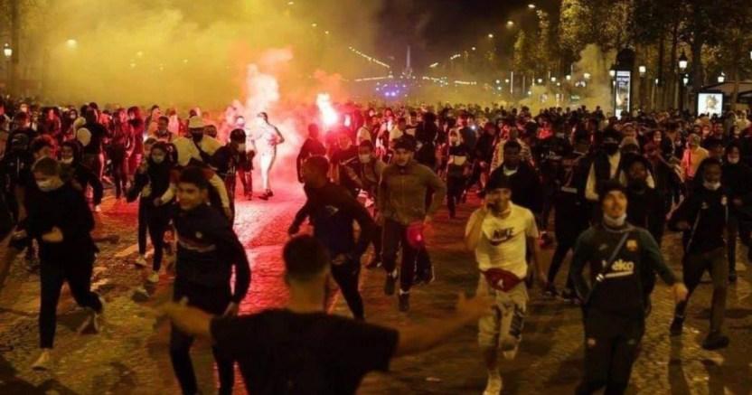 detenidas 148 personas en parxs por disturbios tras la final de la champions 2 crop1598262454074.jpg 673822677 - Detenidas 148 personas en París por disturbios tras la final de la Champions
