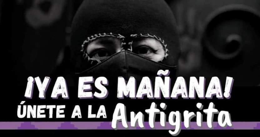"""antigrita - Colectivos feministas convocan al """"Antigrita"""" en instalaciones tomadas de la CNDH en la CdMx"""