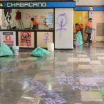 chabacano - FOTOS: Mujeres protestan en contra de la violencia en la CEAV y el Metro Chabacano de CdMx
