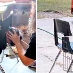 nino cabeza atorada asiento escuela 2 - Niño termina con la cabeza atorada en su silla al segundo día de clases virtuales. Se aburrió mucho
