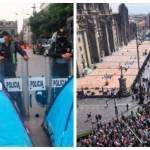 policias lesionados FRENA scaled - SSC informó que dos policías resultaron lesionados tras marcha de FRENAAA