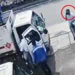 asalto gas - VIDEO: Trabajador golpea con un tanque de gas a delincuente y frustra asalto en calles de Colombia