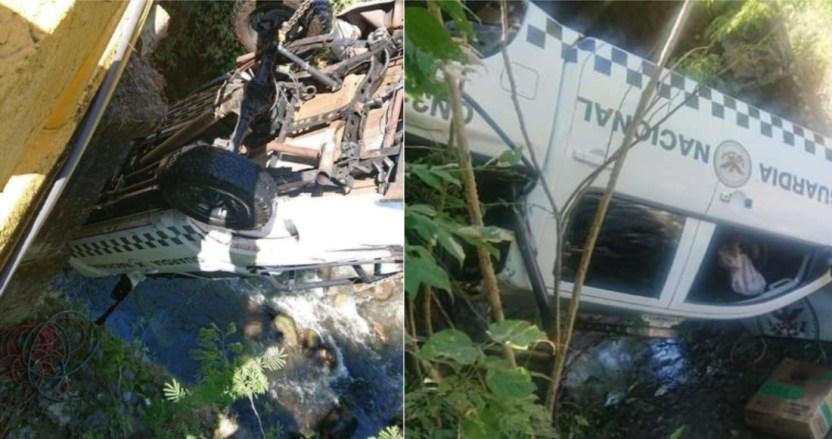 guardia nacional - Patrulla de la Guardia Nacional cae a barranco de 10 metros en Jalisco; dos elementos fallecen