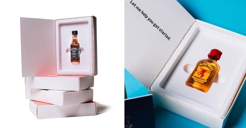 11 carta sanvalentin licor bebida trago especial diversion - Hermosa carta de San Valentín tiene un chupito de whisky dentro. Para beber en honor a tu ser amado
