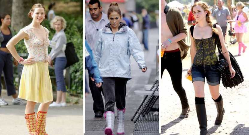 botas de lluvia - 18 famosas que adoran usar botas de lluvia. Kim Kardashian las usa hasta en verano