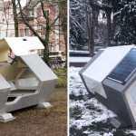capsulas termicas personas sin hogar alemania - Ciudad alemana instala cápsulas térmicas en la calle para la gente sin hogar. Dejarán de pasar frío