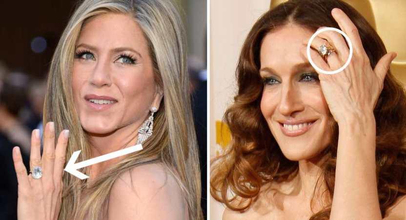 famosas anillos de compromiso - 15 famosas y sus lujosos anillos de compromiso. El de Jennifer Lopez era bastante enorme