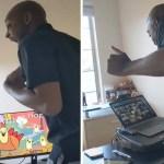 profesor baile kenneth deshone001 - Profesor estadounidense baila cada mañana para animar a sus alumnos. Se las ingenia para animarlos