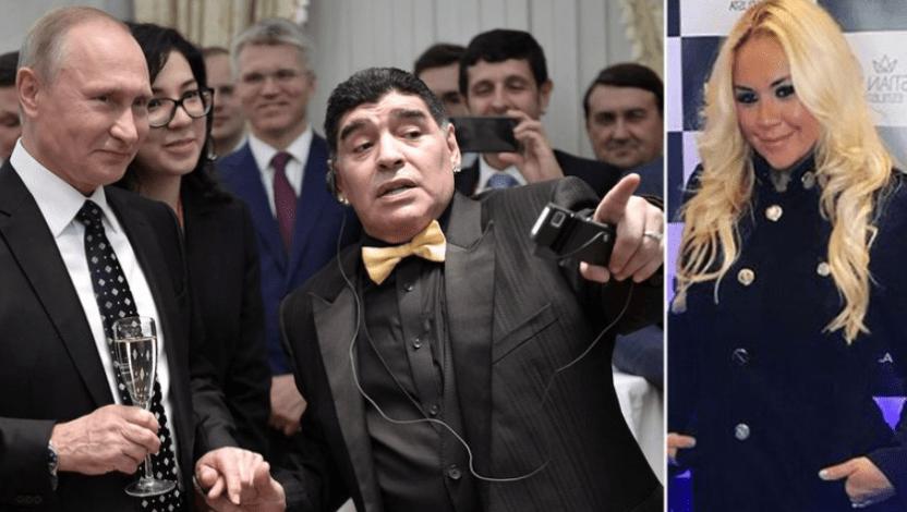 putin maradona y Veronica Ojeda - El lujoso regalo que Putin le obsequió a una antigua novia de Maradona