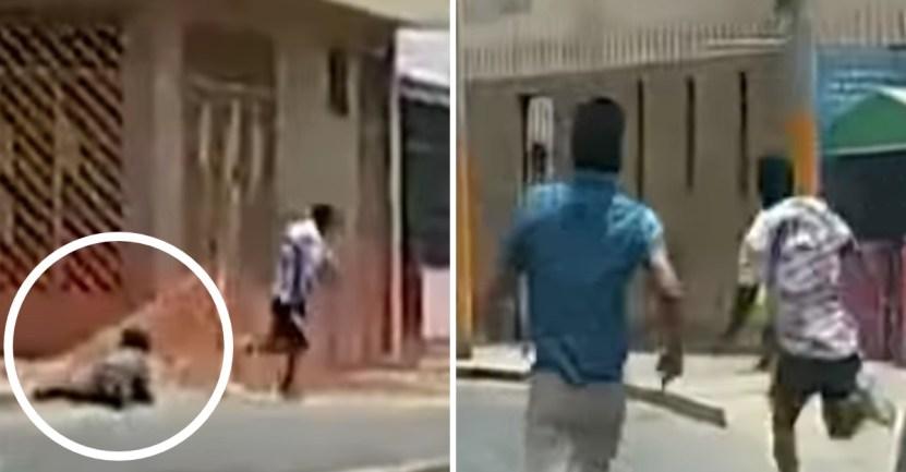 robo maestro jiujitsu mujer - Maestro de jiu-jitsu frustró robo de mujer en la calle. Persiguió al delincuente y lo paralizó