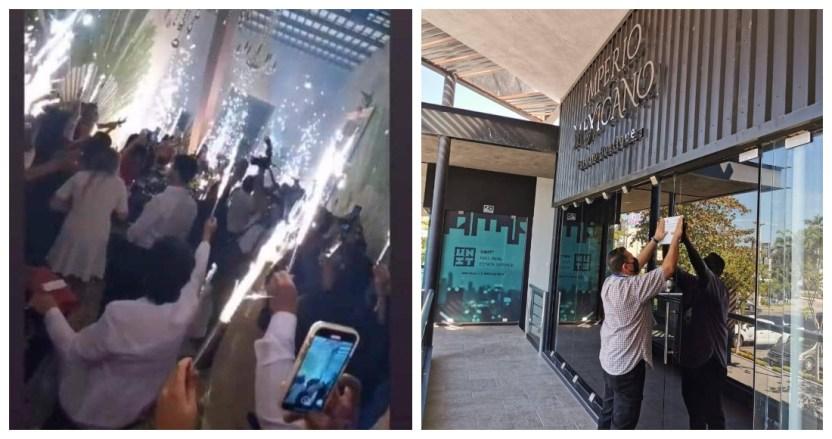 yucatan1 - Empresarios realizan fiesta en Yucatán y la presumen en redes. Les cierran el lugar y los multan