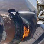 Avion - VIDEO: Las imágenes del aterrador momento del avión de United Airlines por falla en uno de sus motores