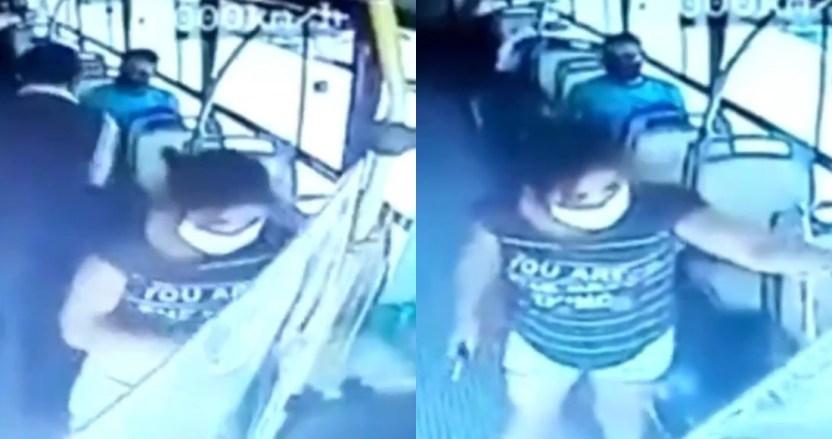 argentina mujer cubrebocas - VIDEO FUERTE: Mujer apuñala al conductor de un autobús que le pidió usar cubrebocas, en Argentina