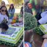 11 nino pastel cara cumpleanos tia pelea 2 - Il festeggiato si è arrabbiato con sua zia per avergli conficcato la faccia nella torta. Era il suo giorno e voleva essere rispettato