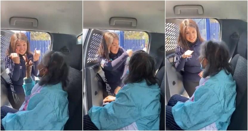 befunky collage 2021 03 26t070807 075 - VIDEO: Una mujer policía de Neza explica con lenguaje de señas a una abuelita cómo la vacunarán