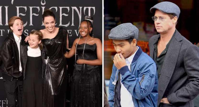 hijos angelina brad - 16 fotos de la diferencia entre cómo se lleva Angelina Jolie con sus hijos y cómo lo hace Brad Pitt