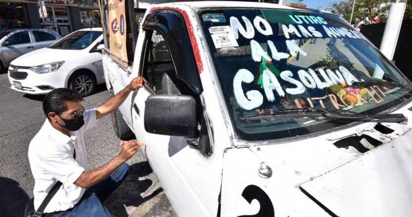 pprotesta aumento gasolina chilpancingo febrero - La inflación anual sube al 3.76% en febrero, basada en el aumento de los precios de combustibles: Inegi