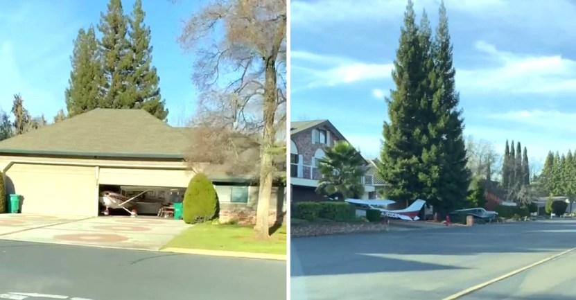 aviones barrio  - Descubren un vecindario donde todos tienen aviones en sus casas como si fueran autos. Todo un lujo