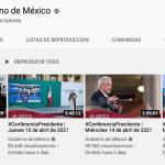 captura de pantalla 2021 04 20 a las 00 22 08 - La conferencia de AMLO del 16 de abril es retirada de las redes sociales del Gobierno de México