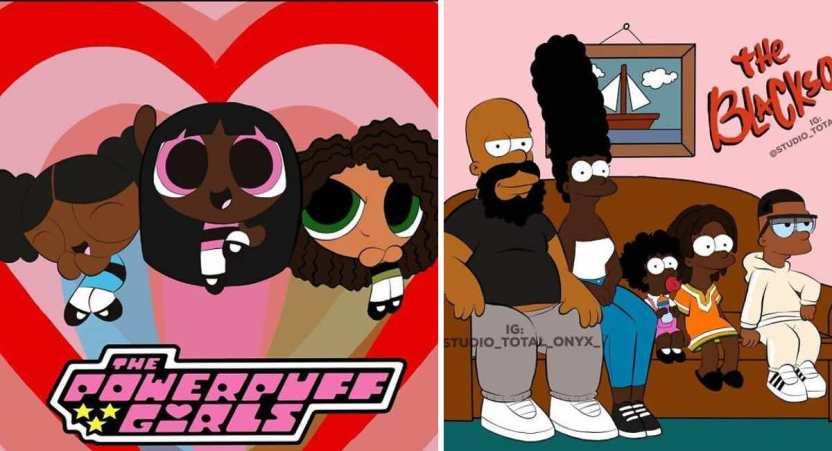 caricaturas color de piel - Artista cambió el color de piel de 16 famosas caricaturas para crear conciencia sobre el racismo