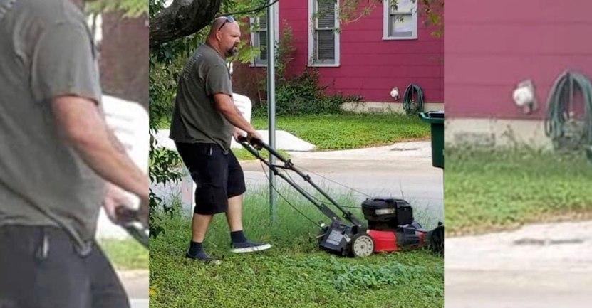 """finnnn 1 - « Lui c'est mon père qui tond la pelouse de ma mère. Ils sont divorcés depuis 28 ans """": Un exemple à suivre"""