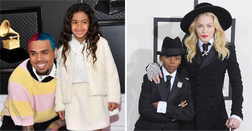 hijos - 10 músicos famosos que presumieron a sus hijos en el escenario. El de Drake intentó esconderse