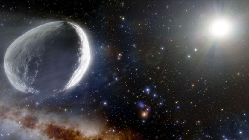 Illustration of Comet Bernardinelli Bernstein - El cometa más grande conocido se acercará tanto a la Tierra que será visible
