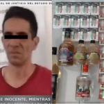 hombre roba cigarros botellas - Detienen a hombre con casi un centenar de cajetillas y varias botellas de alcohol