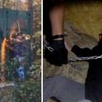 mujer hallada container  - Liberan fotos del hallazgo de una joven encadenada en un contenedor en USA. Estuvo meses extraviada