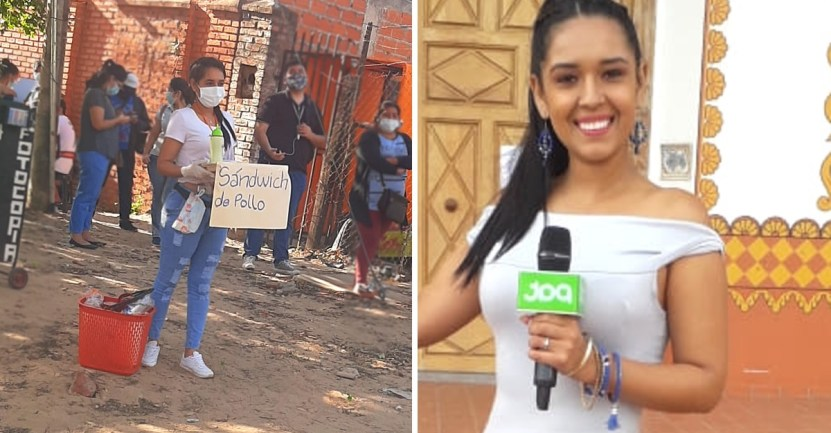 "periodista trabajo verguenza - Periodista respondió a críticas por trabajar vendiendo comida: ""Vergüenza da robar o ser mediocre"""