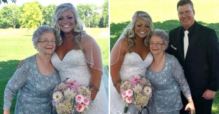 anciana florista nieta - Abuela de 92 años es nombrada como florista y dama de honor en la boda de su nieta. Es un homenaje