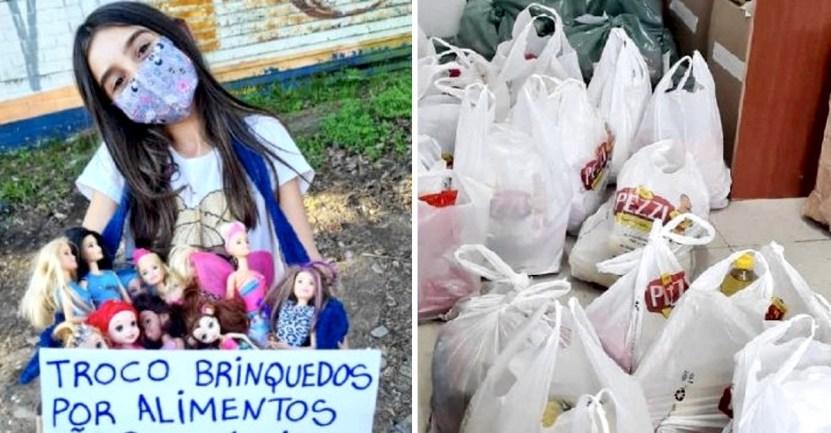 portada nina 9 anos intercambio 200 juguetes alimentos no perecibles familias necesitadas - Niña de 9 años intercambió 200 de sus juguetes por alimentos no perecibles para familias necesitadas