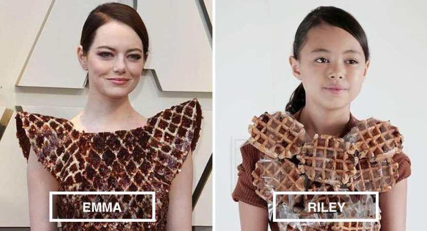 riley famosas - 17 fotos de Riley, la niña de 12 años que recrea los mejores atuendos de las famosas