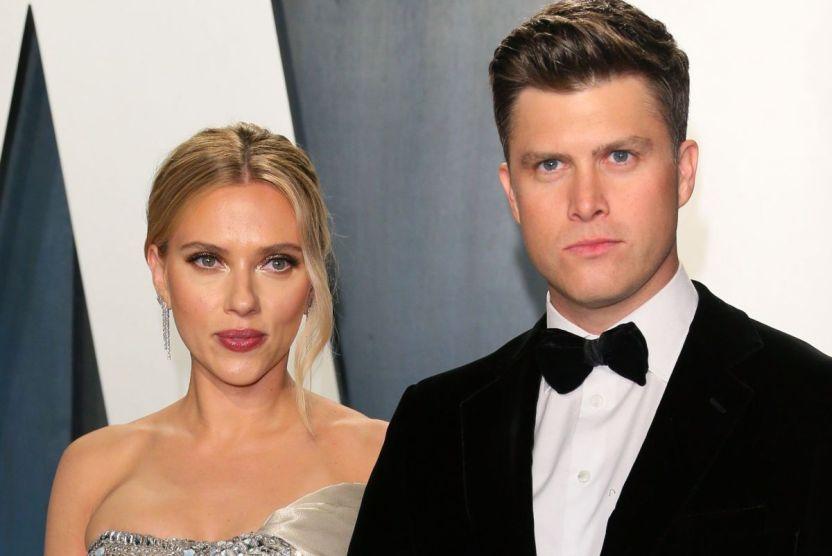 scarlettjohanssonycolinjost getty - Colin Jost confirma que él y Scarlett Johansson esperan un hijo
