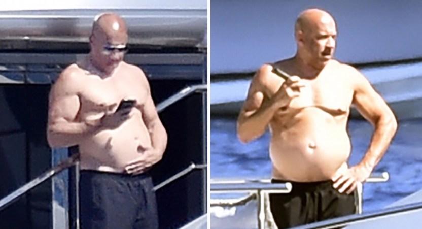 vin diesel yate - Vin Diesel es captado tomando sol sobre su lujoso yate en Italia. Necesitaba un descanso